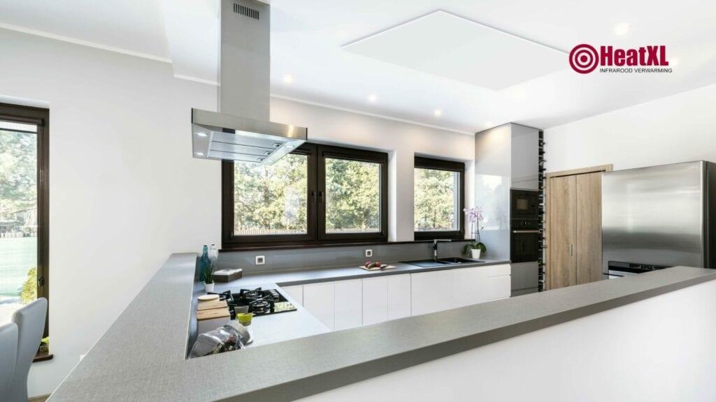 Infrarood paneel infrarood panelen infrarood verwarming plafond wand alkari ecaros welltherm heatxl woonkamer studeerkamer keuken garage hal kinderkamer slaapkamer woonkamer wit zwart foto 14