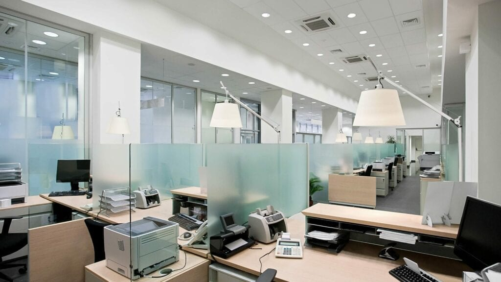 kantoor verwarming systeemplafond bureau verwarming