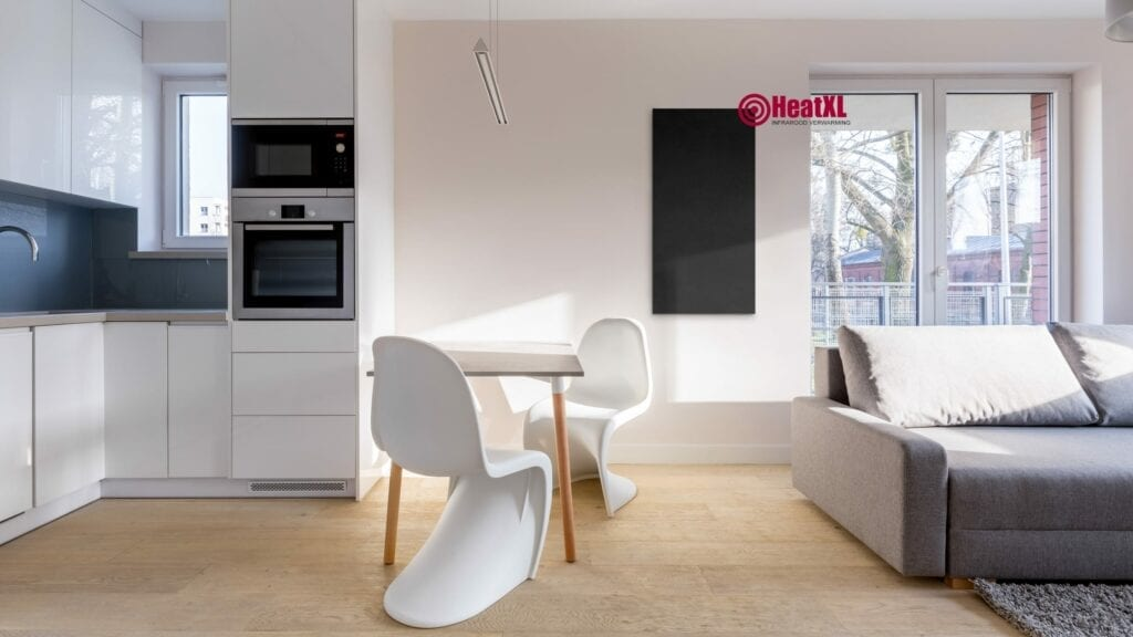 Krijtbord keuken woonkamer radiator lage temperatuur