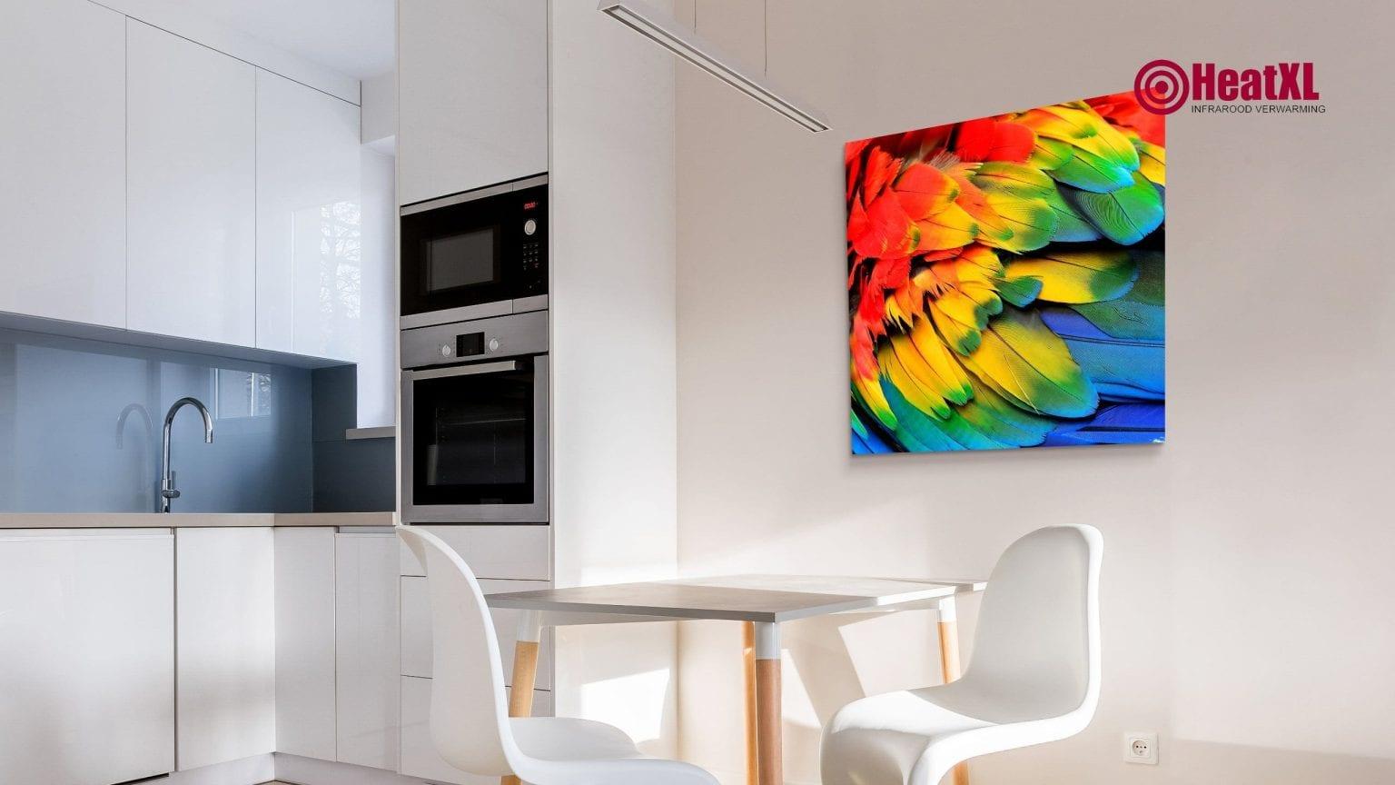 infraroodpaneel infrarood verwarming warmtepaneel woonkamer print foto 3