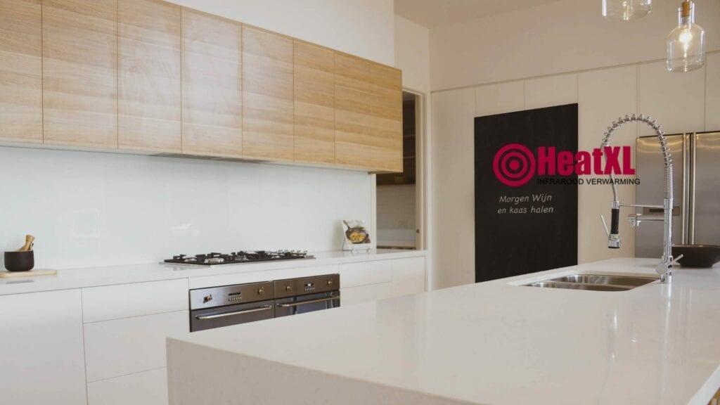 krijtbord in de keuken infraroodpaneel