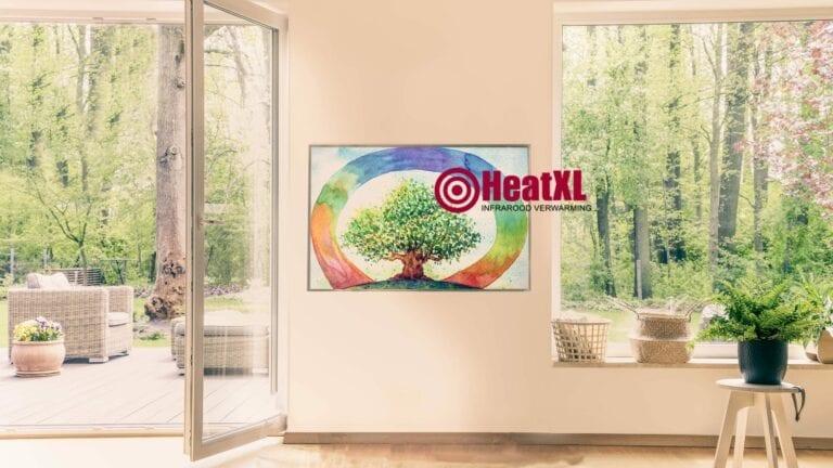 infrarood paneel groen woonkamer duurzaam verwarmen