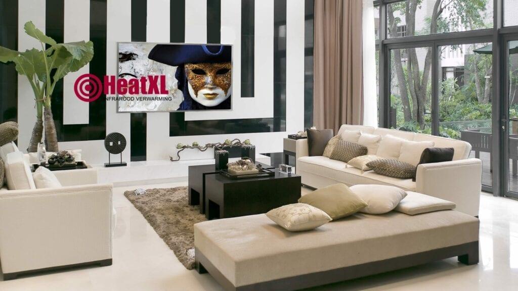 woonkamer infrarood paneel schilderij Venetie